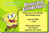 Spongebob Birthday Invitations Templates Pic #17
