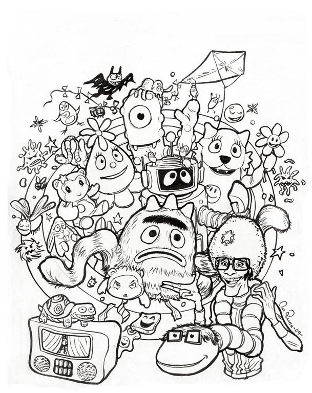 yo gabba gabba coloring pages - photo#23