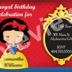 snow white invitation 2