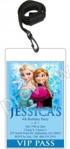 Frozen VIP pass invitation