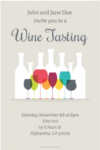 wine tasting invite sample