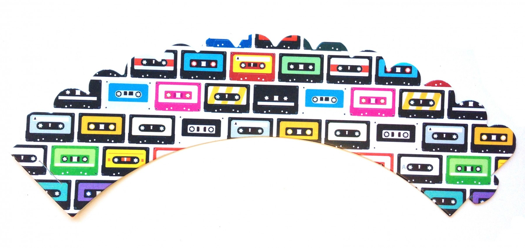 cassette tape 80s theme party cupcake wrappers