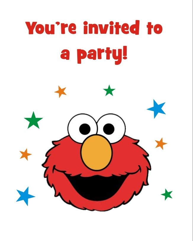 Elmo FREE Printable Birthday Party Invitation Personalized Party Invites