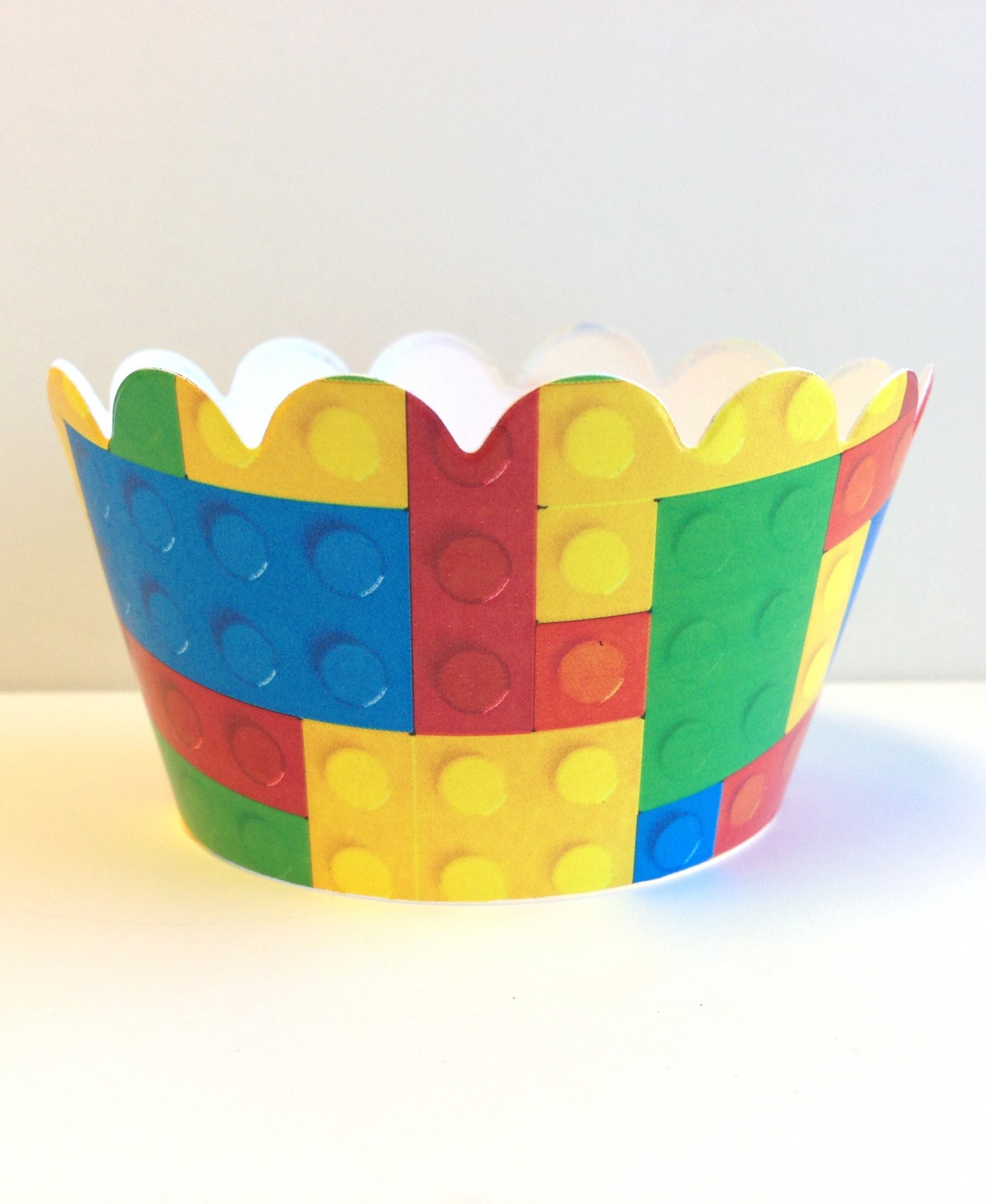 building blocks cupcake wrappers