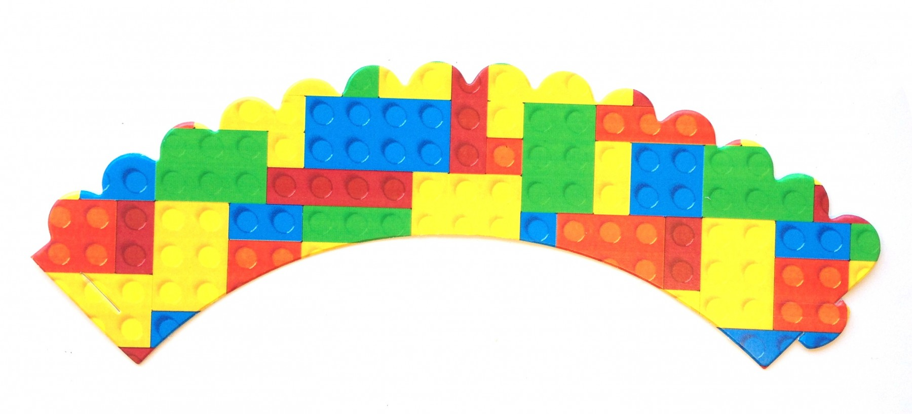 Building Blocks Cupcake Wrappers 24ct Personalized Party