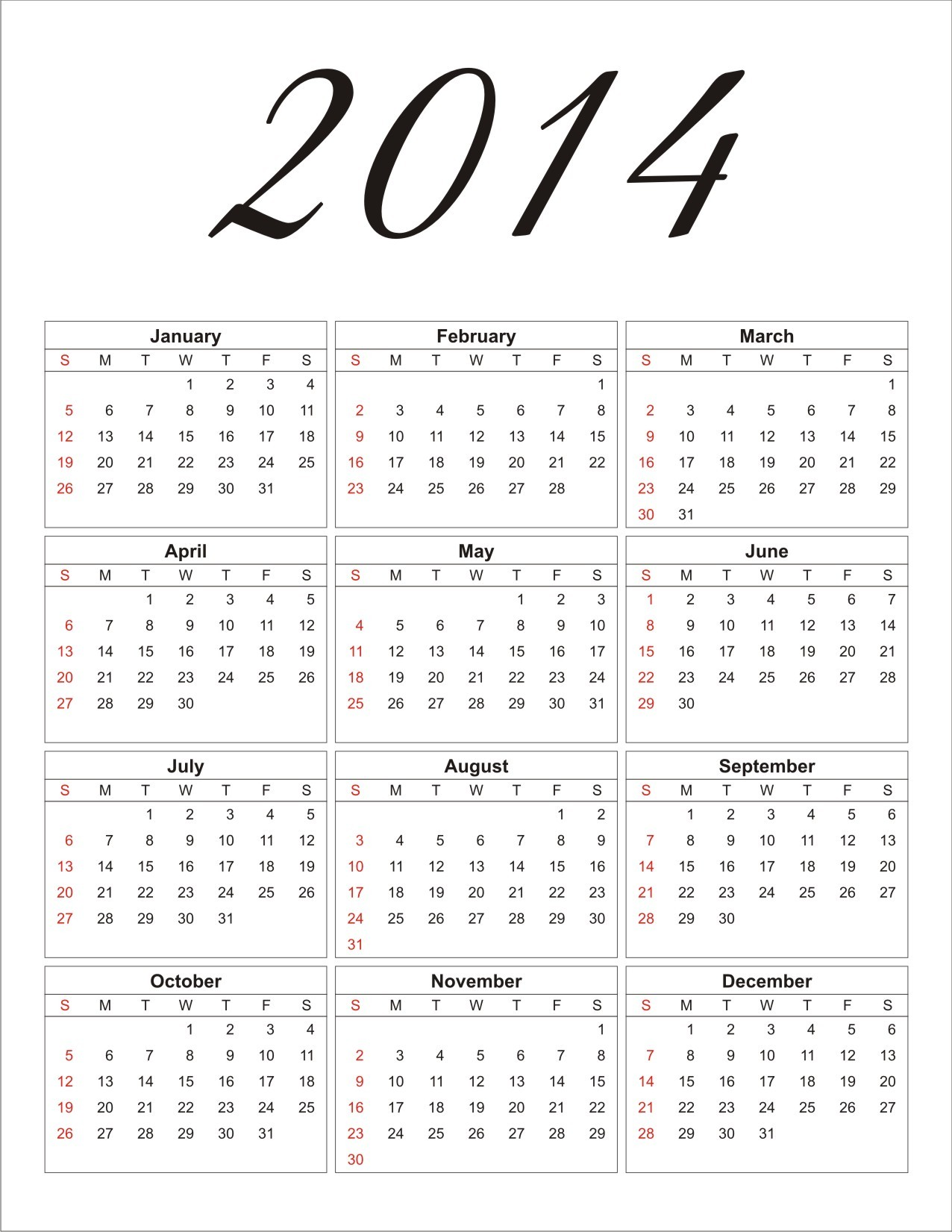 fillable calendar template 2014 - free 2014 printable calendar personalized party invites