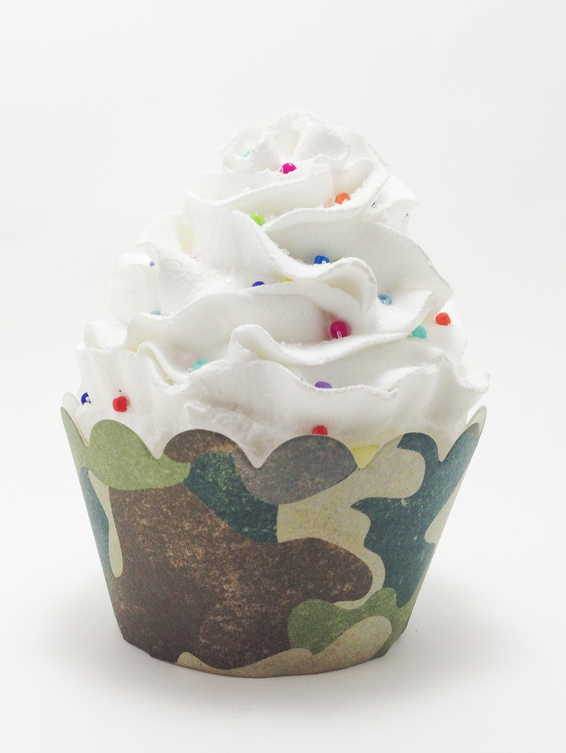 Army Military Camouflage Cupcake Wrappers