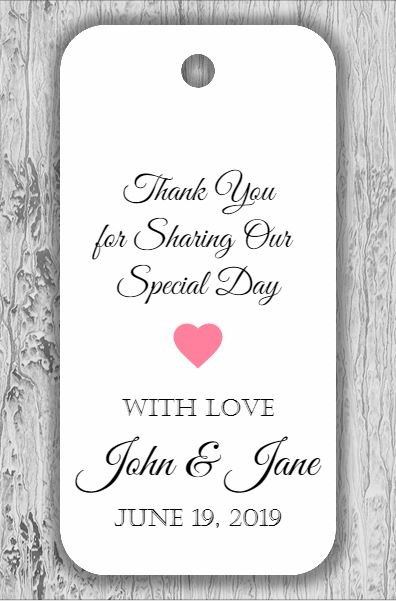 Thank You Custom Personalized Gift Party Favor Tags - for Wedding