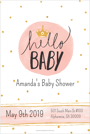 Hello baby baby shower invitation personalized party invites filmwisefo