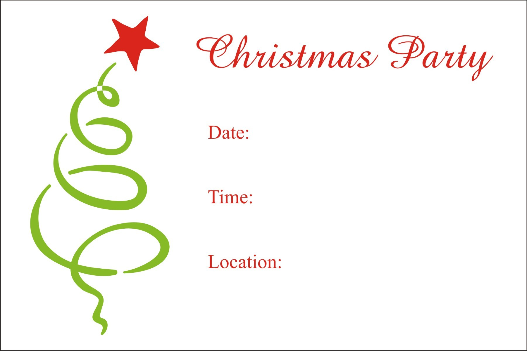image relating to Free Printable Christmas Party Flyer Templates called Xmas Occasion Cost-free Printable Family vacation Invitation