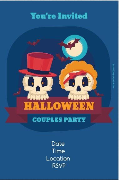 Halloween Couples Party Invitation