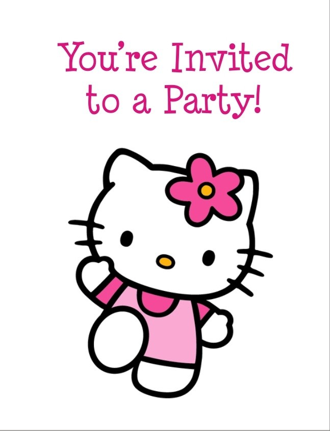 Hello Kitty FREE Printable Birthday Party Invitation Personalized Invites