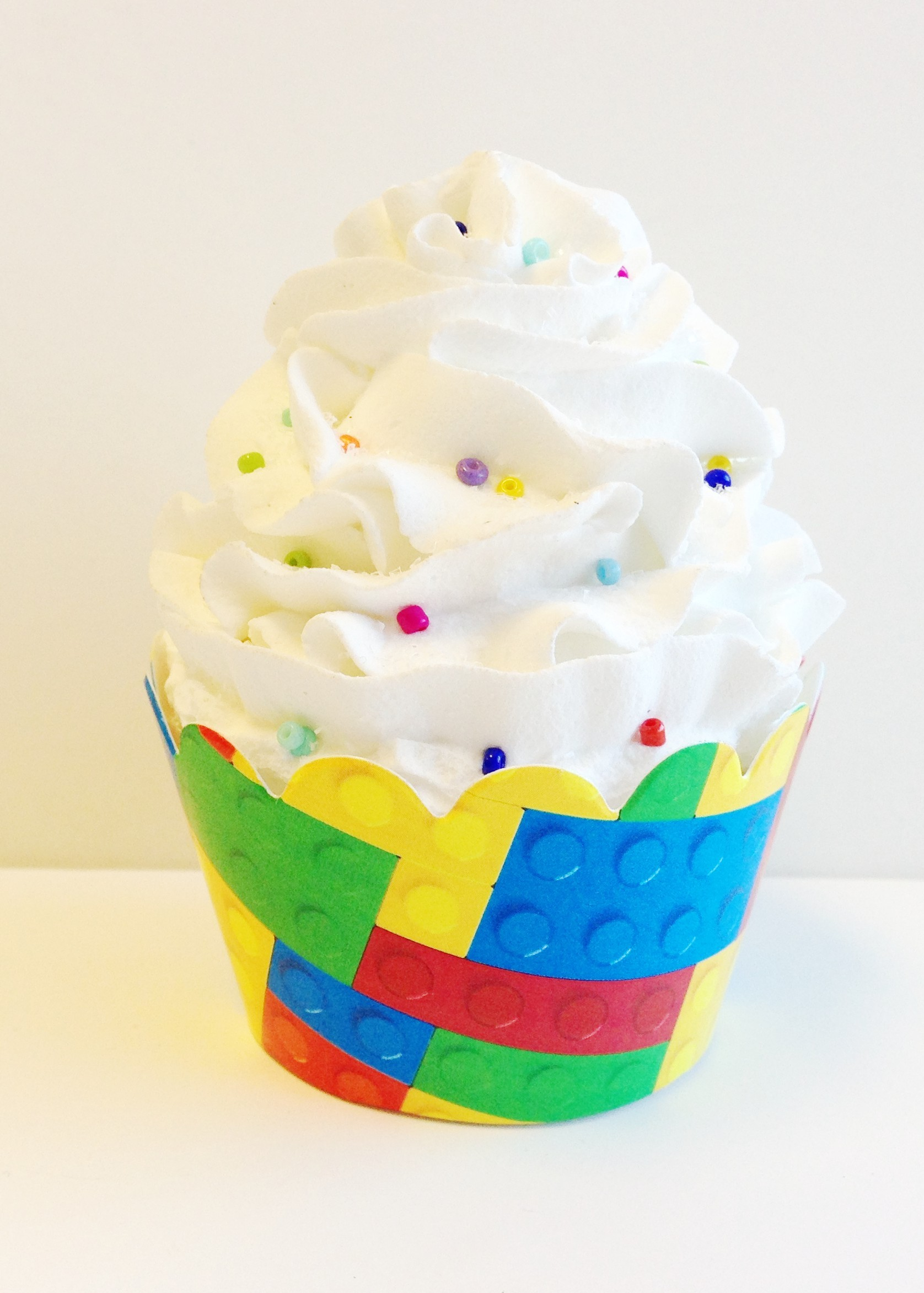 Lego Inspired Building Blocks Cupcake Wrappers