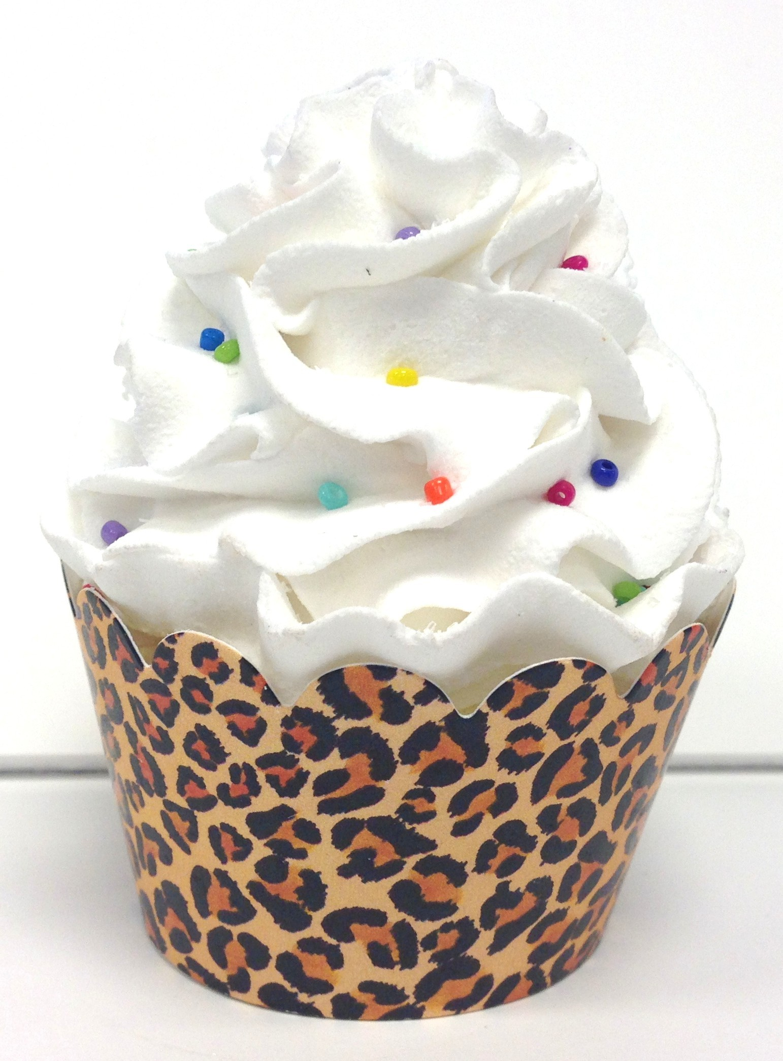 leopard animal print cupcake wrappers