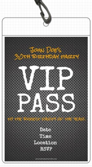 Metal Grid VIP Pass Invitation with Lanyard
