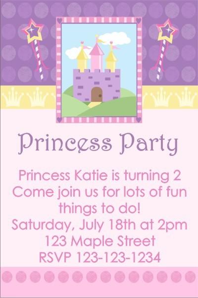 Princess Party Invitation