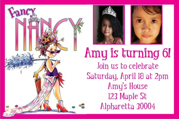Fancy Nancy Photo Invitation