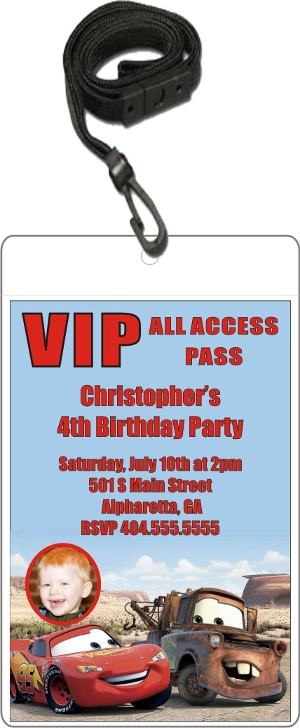 VIP Pass Invitations w Lanyard Party Invites Personalized Party – Vip Ticket Invitations