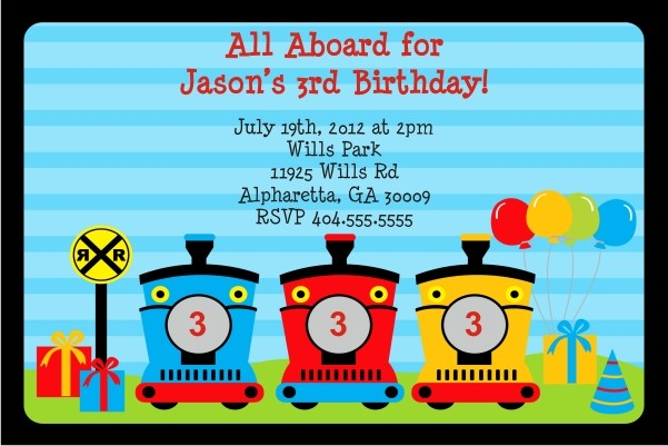 Train  Invitation - All Aboard