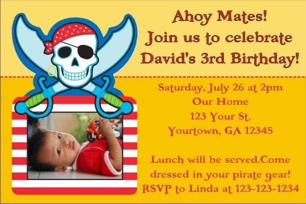 Pirate Photo Invitation
