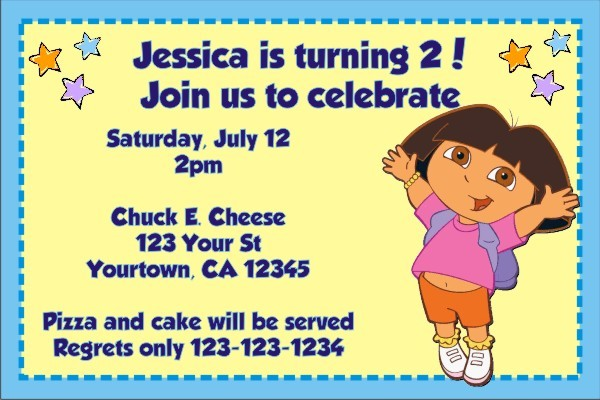 Dora the Explorer Invitations 3
