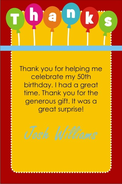 Shhh...It's a Surprise Party Thank You Cards