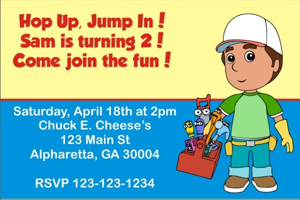 Handy Manny Invitation