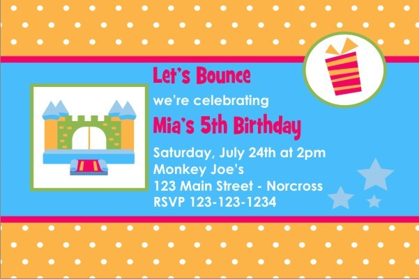 Bounce House / Castle Invitation 3