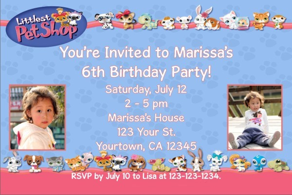 Littlest Pet Photo Invitations Click To Personalize