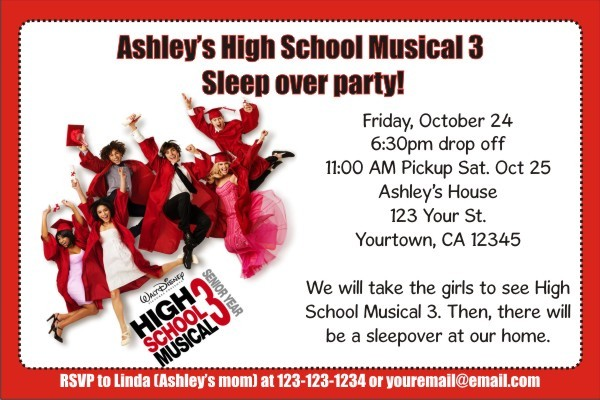 High School Musical 3 (Senior Year) Invitations