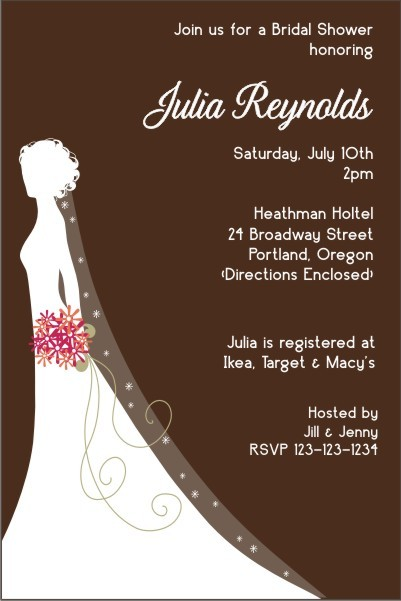 Bridal Shower Invitation 4 - Silhouette
