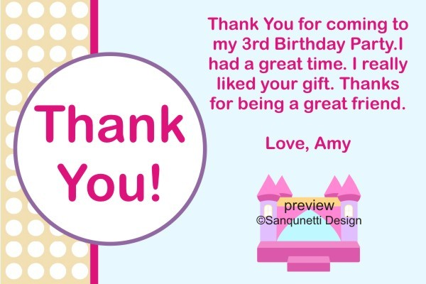 Bounce House Thank You Card