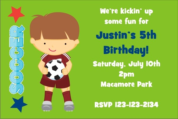 Soccer Invitation 2 (Choose a Boy)