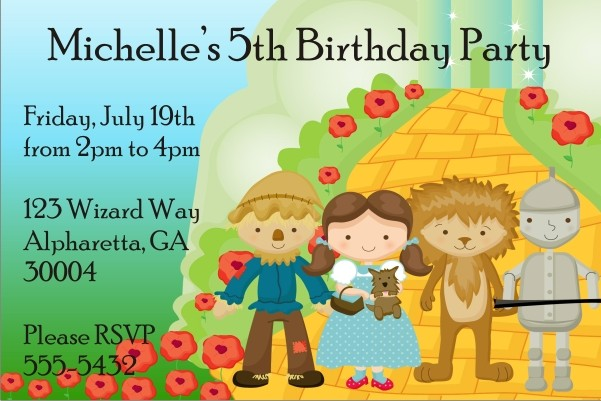 Wizard of Oz Invitation - Not In Kansas Anymore