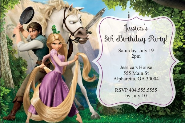 tangled personalized birthday invitation personalized party invites