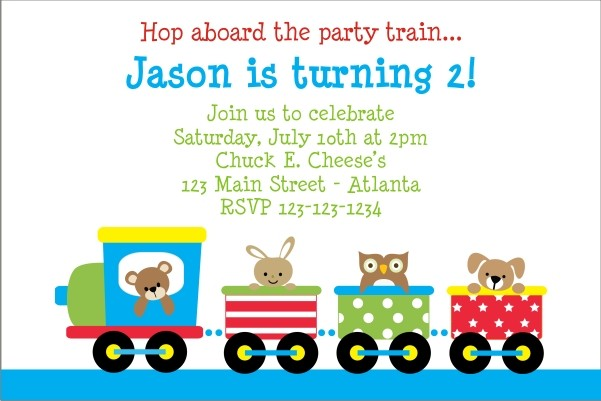 Train Invitations 2