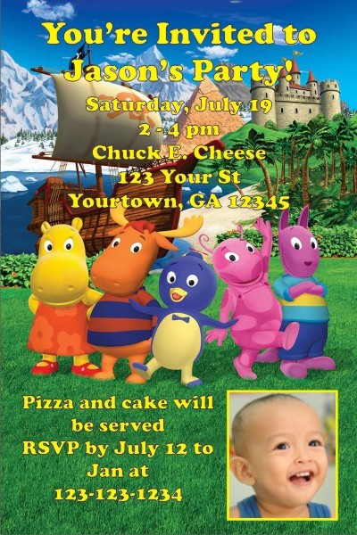 Backyardigans Photo Invitations