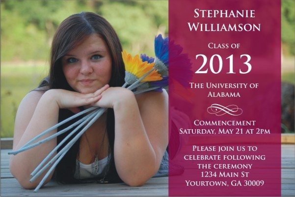 Graduation Photo Announcement Party Invitation