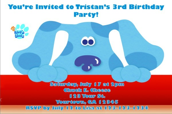 Blues Clues Invitations Personalized Party Invites – Blues Clues Party Invitations