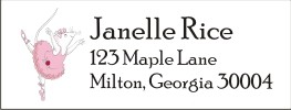 Angelina Ballerina Return Address Labels