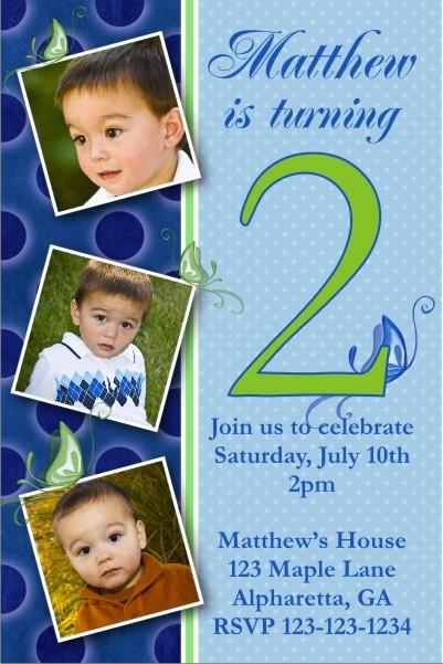 Photo Invitation 22 - Boy Butterfly