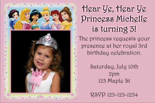 Princess Photo Invitation 3