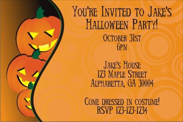 Pumpkins Halloween Party Invitation