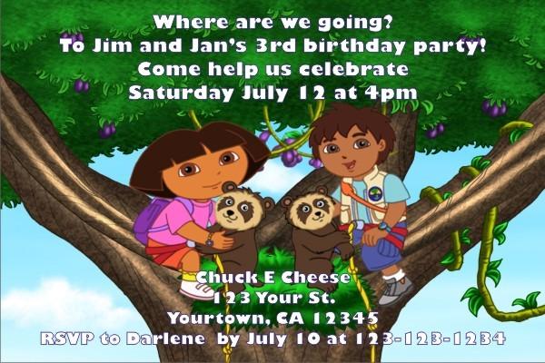Dora and Diego Invitations