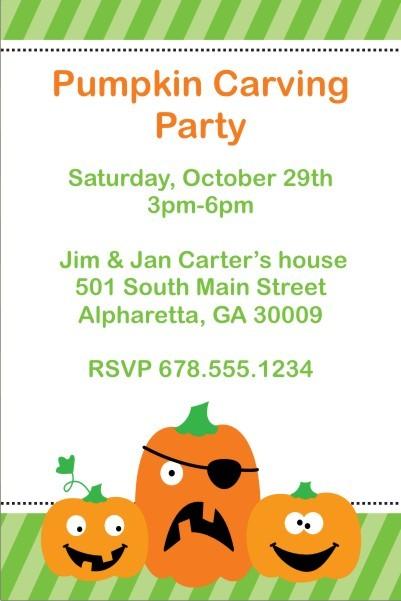Halloween Silly Pumpkins Invitation