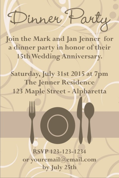 Dinner Party Invitation 2