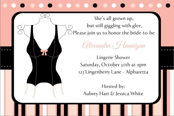 Lingerie Bridal Shower Bachelorette Party Invitation 3