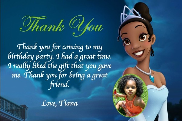 Princess and the Frog Thank You Cards Personalized Party Invites – Princess Tiana Party Invitations