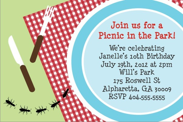 Picnic Invitation - Ant March