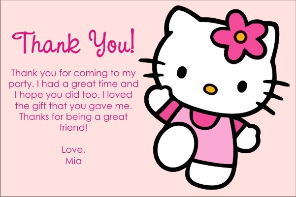 Hello Kitty Thank You Cards Click To Personalize